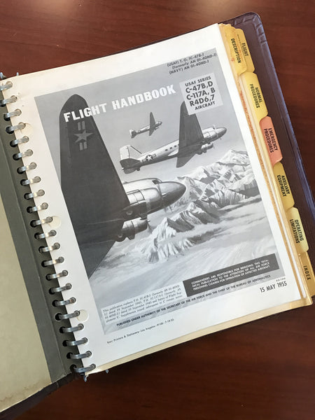 Flight Manual (T)C-47D Skytrain, Original in Binder, May 1955 US Air Force