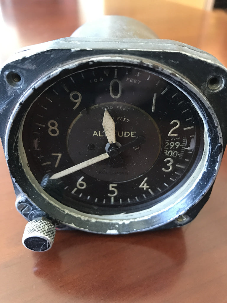 Altimeter, Sensitive AN5760-2, C-12, US Army Air Force, Kollsman, WWII