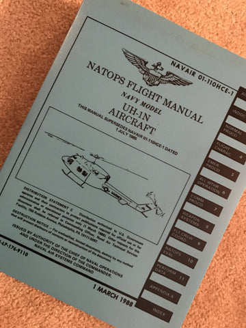 UH-1N Bell Huey Helicopter Flight Manual 1988