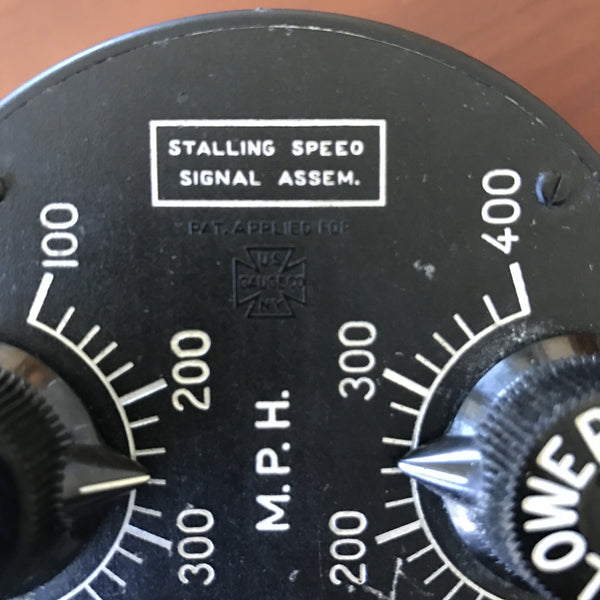 Stalling Speed Signal Assembly, Type D-3, WWII US Army Air Force, 1942