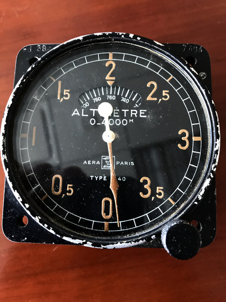 Altimeter, French Armée de l'Air, 0-4,000 meters Aera Type M40