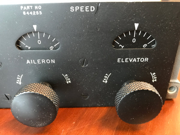 Autopilot Speed Control Panel for A-3, A-3A, A-4, and Mark 3, 3A, 4, 644255, New Old Stock