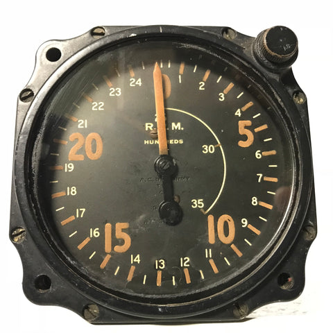 Tachometer, Chronometric, Type C-7, WWII, Air Corps US Army