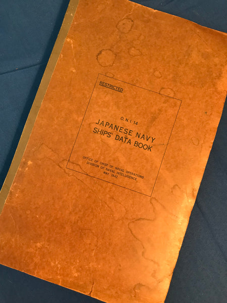 Japanese Navy Ships' Data Book, Office of Naval Intelligence 1942, ONI 14
