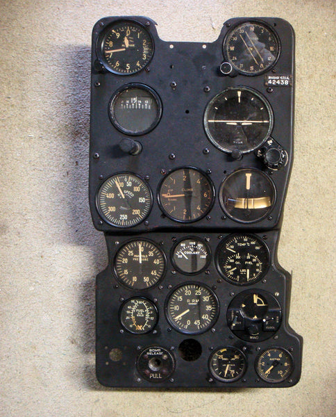 P-39Q Airacobra Fighter Instrument Panel #44-2438
