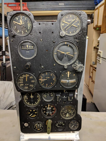 P-39Q Airacobra Fighter Instrument Panel