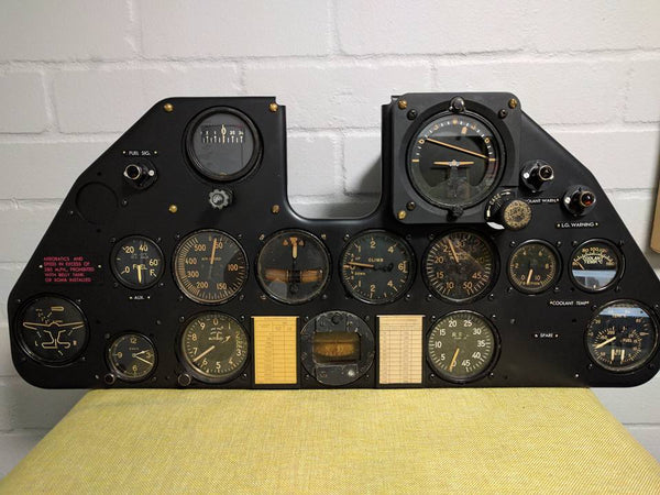 P-40E Warhawk Fighter Instrument Panel