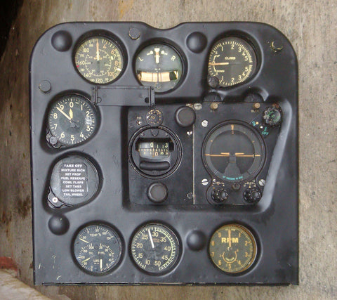 SBD-3 Dauntless Instrument Panel, Henderson Field Guadalcanal