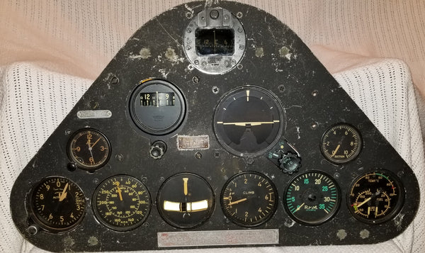 SNJ-4 Texan Trainer Pilots Instrument Panel