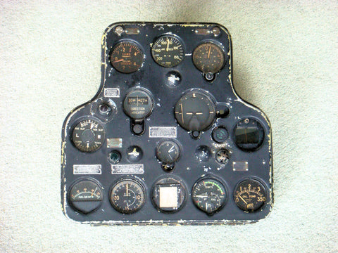 CAC Wirraway Instrument Panel, WWII and Post WWII era