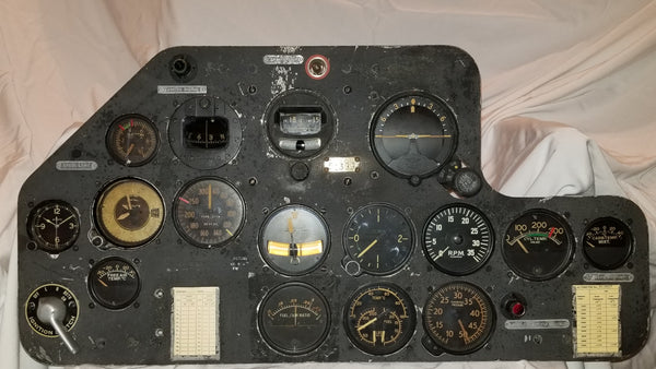 SNJ-4 Texan Trainer Students Instrument Panel