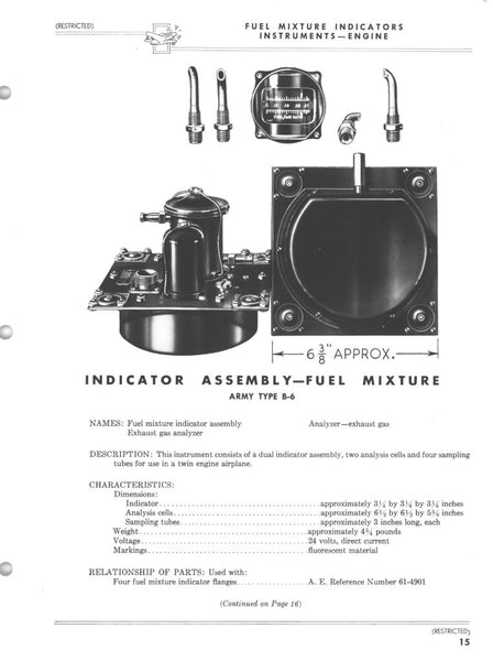 Fuel Mixture (Fuel-Air Ratio) Indicator, Dual Engine Type B-6A