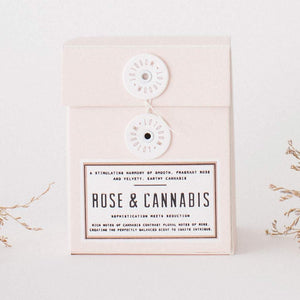 Rose + Cannabis Candle
