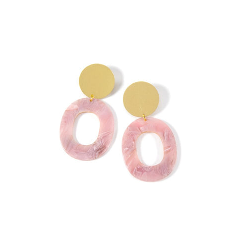 Blush Hollow Earrings