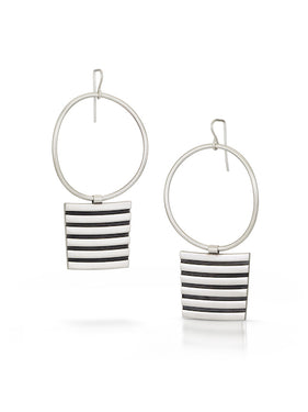 ES12 - Stripe Statement Earrings