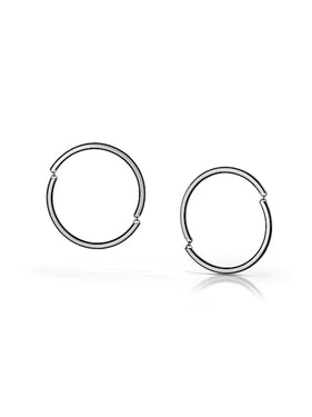 ES13 - Linked Edge Hoop Earrings - Small and Large