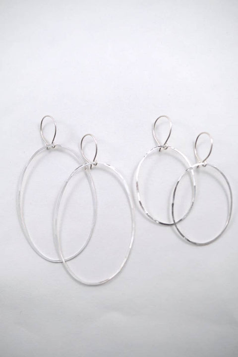 Hannah Naomi - Small Sterling Silver Oval Hoops
