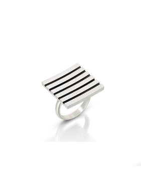 ES20 - Stripe Square Ring