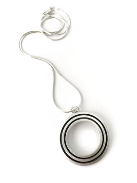 ES22 - Stripe Circle Pendant
