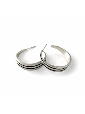 ES23 - Tapered Stripe Hoops - Small and Large