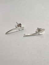 Hannah Naomi - Sterling Silver Ear Crawlers - Pair