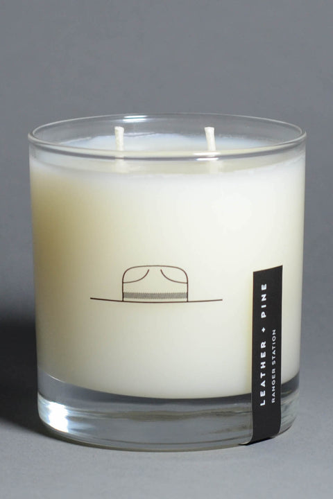 Ranger Station - Leather + Pine Candle