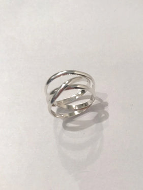 Hannah Naomi - Sterling Silver Infinity Spiral Ring
