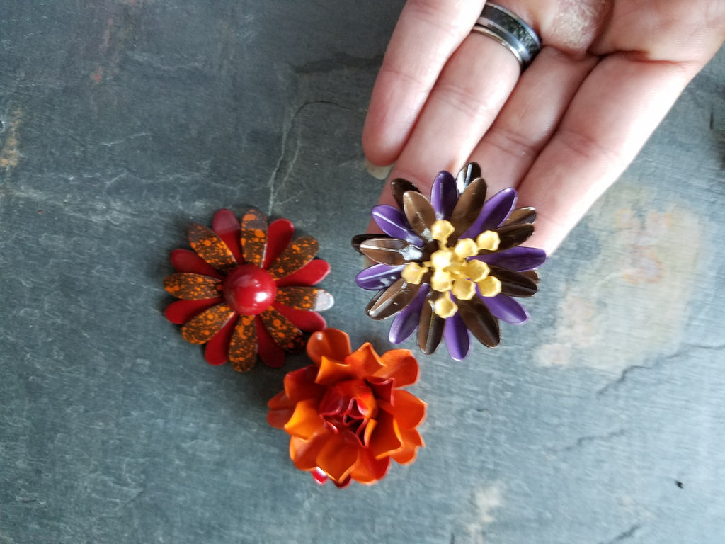Fall Flower Magnet Set