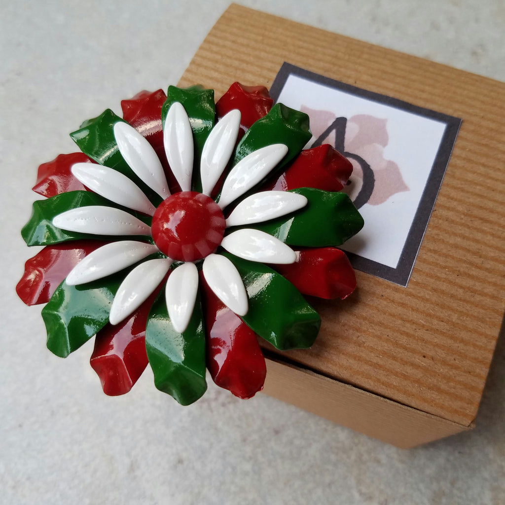 Large Christmas Flower Magnet