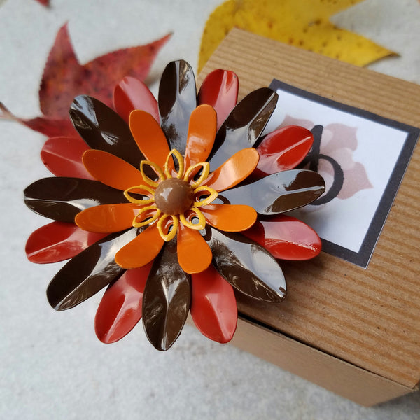Large Thanksgiving Flower Magnet