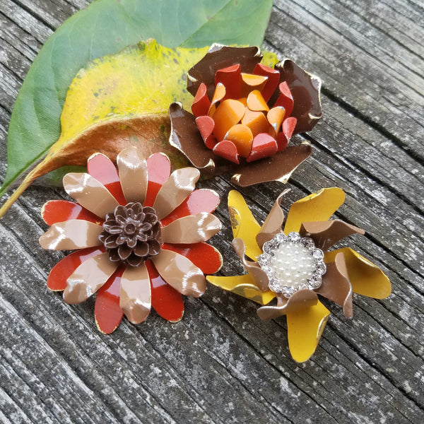Thanksgiving Flower Magnet Set