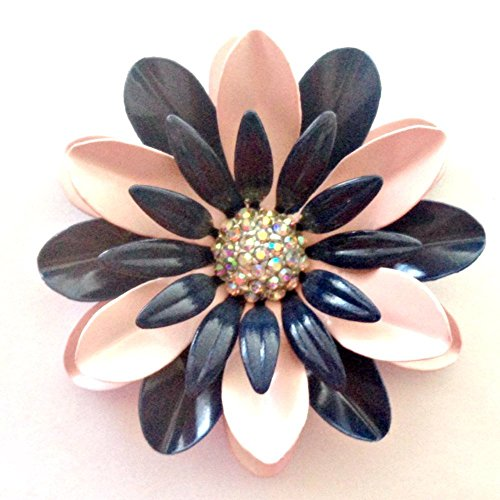 Navy and Pink Brooch