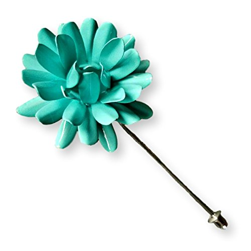 Light Blue Marigold Lapel Pin