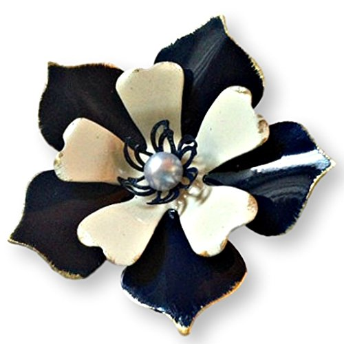 Navy Blue Distressed Brooch