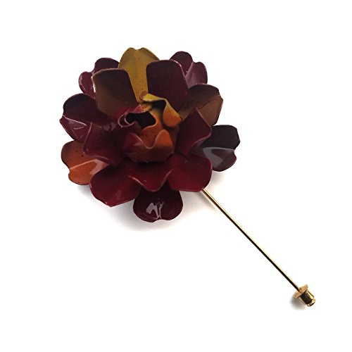 Autumn Bone Rose Lapel Pin
