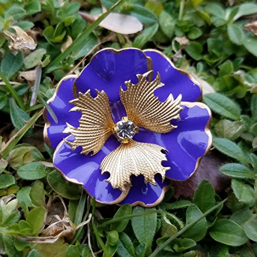 Small Purple and Gold Pansy