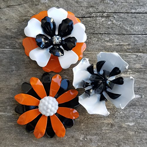 Halloween Magnets Small Metal Flowers