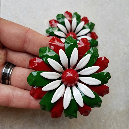 Metal Flower Christmas Magnet