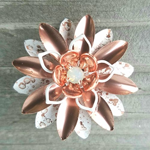 Small Rose Gold Tone and White