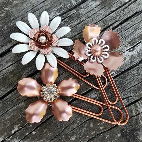 Copper Painted Metal Planner Clip