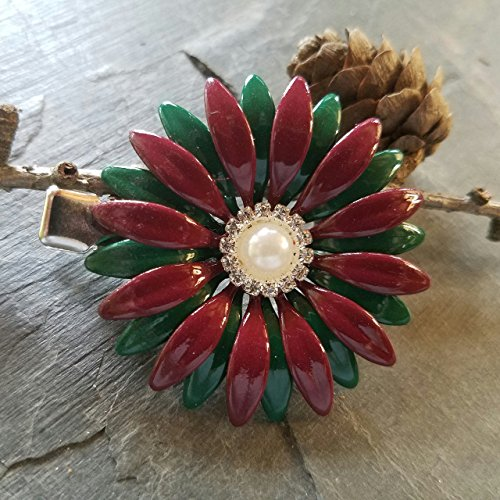 Red and Green Christmas Hair Clip
