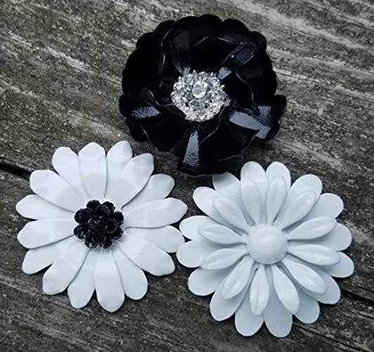 Black and White Refridgerator Magnets