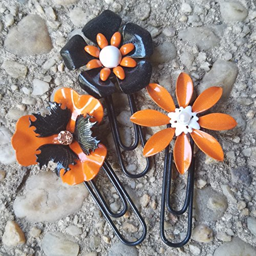 Halloween Planner Clip Set Metal Flowers