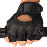 Training Body Building Gym Weight Lifting Sport Fingerless Half Finger Gloves Fabric Mittens