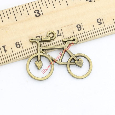 Antique Bronze Plated Vintage Bike Bicycle Charms Pendants for Jewelry