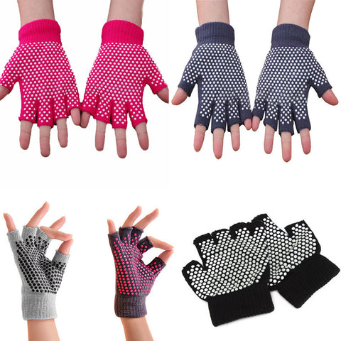 Gym Half-finger Body Building Training Sport No-slip Yoga Exercise Pilates Warm Gloves