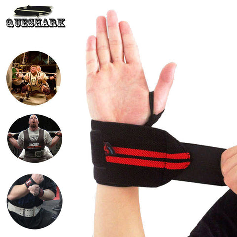 1Pc Weight Lifting Sports Wristband Gym Wrist Thumb Support Straps Wraps Bandage Fitness Training Safety Hand Bands