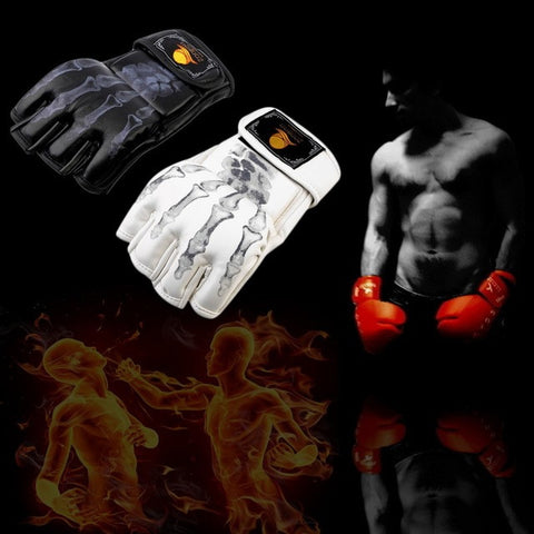 2015 Hot Quality MMA  Sparring Grappling Fight Boxing Punch Ultimate Mitts Leather Gloves free shipping