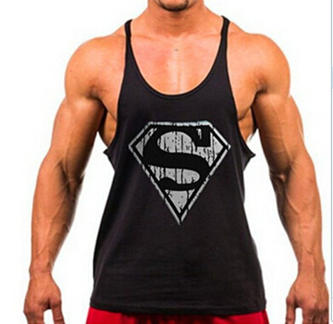 2015 Superman gym vest Animal cotton tank top bodybuilding and fitness clothing muscle sport top men Sleeveless tops gymshark