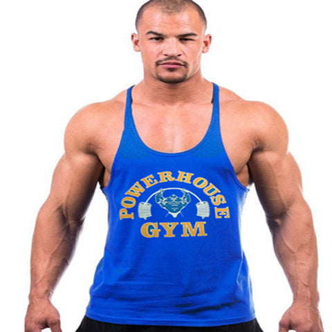 2015 gym vest bodybuilding clothing and fitness men tank tops golds gym brand high quality 100% cotton undershirt gym shark